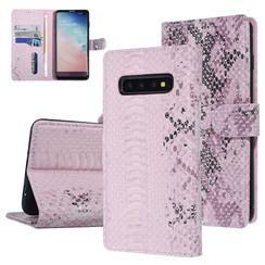 UNIQ Accessory Galaxy S10 Plus Pink Schlangenhaut Book-Case hul