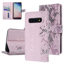 UNIQ Accessory Galaxy S10 Plus Roze Slangenleer Booktype hoesje