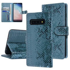 UNIQ Accessory Galaxy S10 Plus Vert Peau de serpent Book type housse