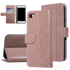 UNIQ Accessory iPhone 7-8 Roze Zachte huid Booktype hoesje