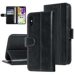 UNIQ Accessory iPhone X-Xs Noir Doux au toucher Book type housse