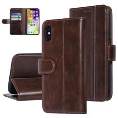 UNIQ Accessory iPhone X-Xs Bruin Zachte huid Booktype hoesje