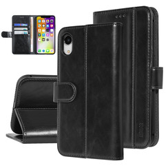 UNIQ Accessory iPhone XR Zwart Zachte huid Booktype hoesje