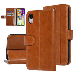 UNIQ Accessory Apple iPhone XR Dark Brown Soft Touch Book type case