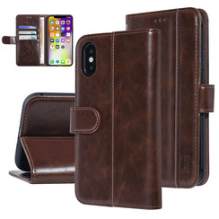 UNIQ Accessory iPhone Xs Max Marron Doux au toucher Book type housse