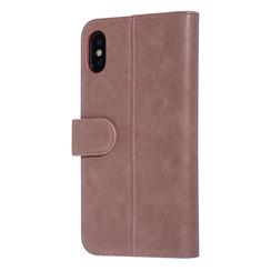 UNIQ Accessory iPhone Xs Max Roze Zachte huid Booktype hoesje