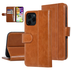UNIQ Accessory iPhone 11 Pro Donker Bruin Zachte huid Booktype hoesje