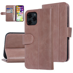 UNIQ Accessory iPhone 11 Pro Roze Zachte huid Booktype hoesje