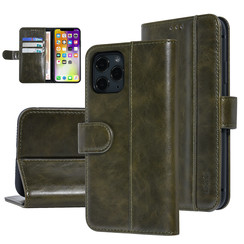 UNIQ Accessory iPhone 11 Pro Donker Groen Zachte huid Booktype hoesje
