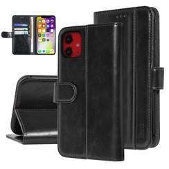 UNIQ Accessory iPhone 11 Zwart Zachte huid Booktype hoesje