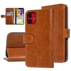 UNIQ Accessory iPhone 11 Donker Bruin Zachte huid Booktype hoesje