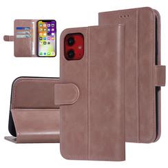 UNIQ Accessory iPhone 11 Roze Zachte huid Booktype hoesje