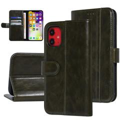 UNIQ Accessory iPhone 11 Donker Groen Zachte huid Booktype hoesje