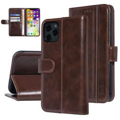 UNIQ Accessory iPhone 11 Pro Max Bruin Zachte huid Booktype hoesje