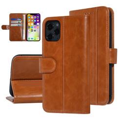 UNIQ Accessory iPhone 11 Pro Max Donker Bruin Zachte huid Booktype hoesje