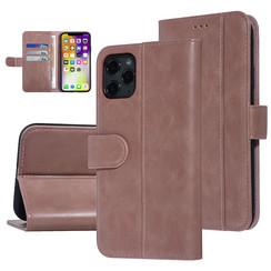 UNIQ Accessory iPhone 11 Pro Max Roze Zachte huid Booktype hoesje