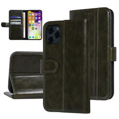 UNIQ Accessory iPhone 11 Pro Max Donker Groen Zachte huid Booktype hoesje