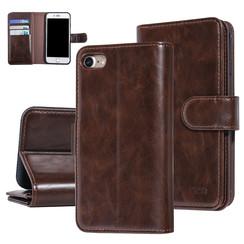 UNIQ Accessory iPhone 7-8 Bruin Zachte huid Booktype hoesje