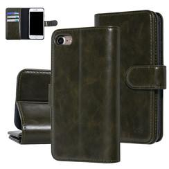 UNIQ Accessory iPhone 7-8 Donker Groen Zachte huid Booktype hoesje