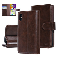 UNIQ Accessory Apple iPhone X-Xs Brown Soft Touch Book type case