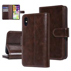 UNIQ Accessory iPhone X-Xs Marron Doux au toucher Book type housse