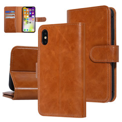 UNIQ Accessory Apple iPhone X-Xs Dark Brown Soft Touch Book type case