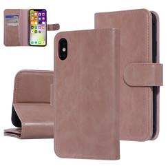 UNIQ Accessory iPhone X-Xs Roze Zachte huid Booktype hoesje