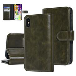 UNIQ Accessory iPhone X-Xs Vert Foncé Doux au toucher Book type housse