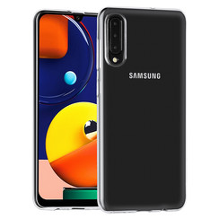 Samsung Galaxy A50S Hoes Cover TPU Siliconen Hoesje Transparantesje
