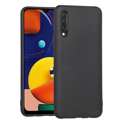 Galaxy A50S Noir Silicone Back cover coque