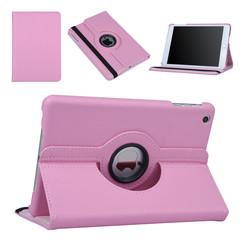 Hoes voor Apple iPad Mini 2 / 3 Book Case 360 Graden Draaibaar - Roze Leer Cover Rotatie Hoesje voor iPad Mini 2 / 3