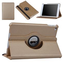 Hoes voor Apple iPad Mini 5 / 4 Book Case 360 Graden Draaibaar - Goud Leer Cover Rotatie Hoesje voor iPad Mini 5 / 4
