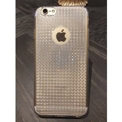 Apple iPhone 6/6S - iPh 6/6S - Diamond pattern Glitter Silicone coque - blanc