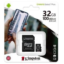 Kingston Micro SD 32 GB Geheugenkaart met adapter - Klasse 10
