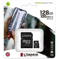Carte mémoire Kingston Micro SD 128 Go avec adaptateur - Classe 10