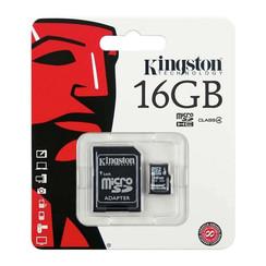 Carte mémoire Kingston Micro SD 16 Go avec adaptateur - Classe 10