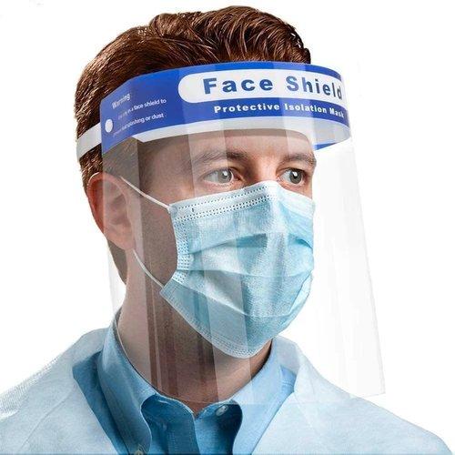 50 X Gezichtsscherm - Spatscherm - FACE SHIELD - transparant