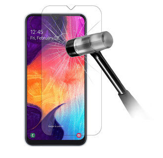 Samsung Galaxy A20e Soft Touch Zwart Screenprotector - Tempered Glas