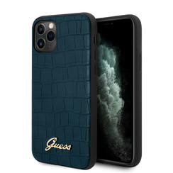 Guess iPhone 11 Pro Bleu Back cover coque - GUHCN58PCUMLCRBL