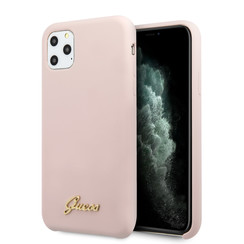 Guess iPhone 11 Pro Pink Back-Cover hul - GUHCN58LSLMGLP