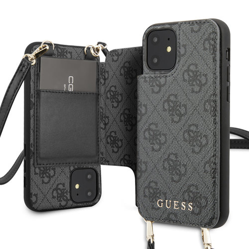 Guess Guess Apple iPhone 11 Grey Back cover case - GUHCN61CB4GG