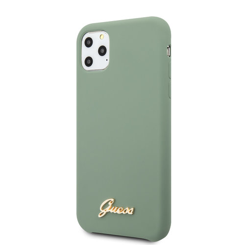 Guess Guess Apple iPhone 11 Pro Max Kaki Back cover case - GUHCN65LSLMGKA