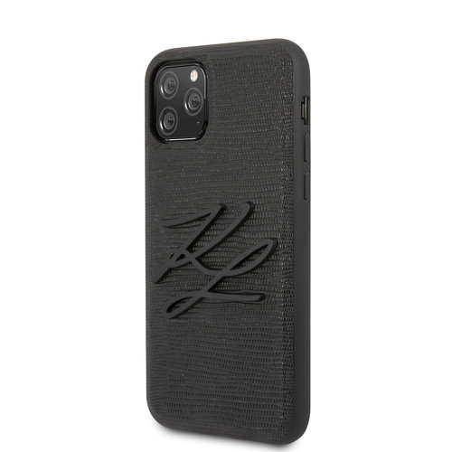 Karl Lagerfeld Karl Lagerfeld Apple iPhone 11 Pro Black Back cover case - KLHCN58TJKBK