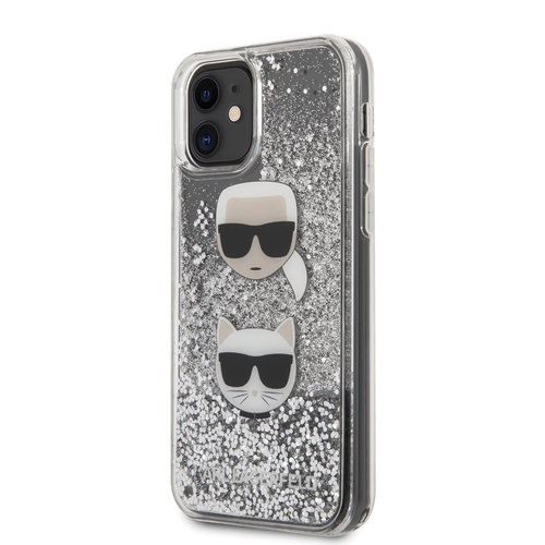 Karl Lagerfeld Karl Lagerfeld Apple iPhone 11 Silver Back cover case - KLHCN61KCGLSL
