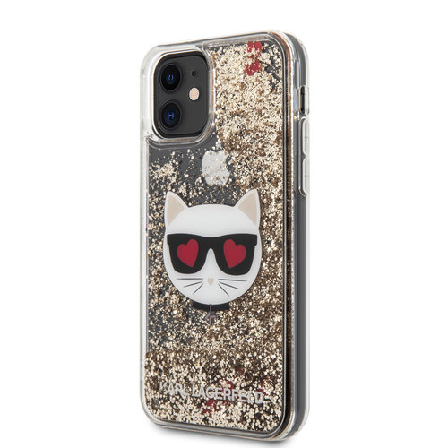 Karl Lagerfeld Karl Lagerfeld Apple iPhone 11 Gold Back cover case - KLHCN61LCGLGO