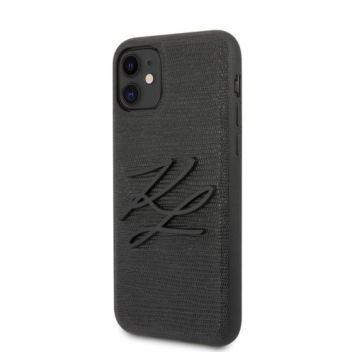 Karl Lagerfeld Karl Lagerfeld iPhone 11 Noir Back cover coque - KLHCN61TJKBK