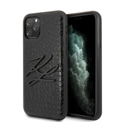 Apple iPhone 11 Pro Max Zwart Backcover hoesje - KLHCN65CRKBK