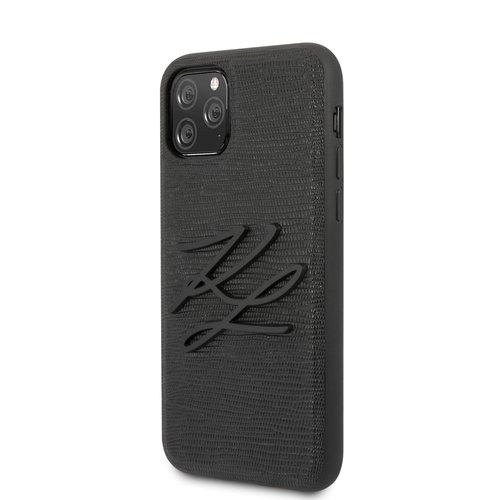 Karl Lagerfeld Karl Lagerfeld Apple iPhone 11 Pro Max Black Back cover case - KLHCN65TJKBK