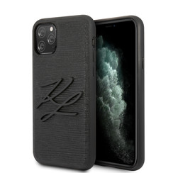 Apple iPhone 11 Pro Max Zwart Backcover hoesje - KLHCN65TJKBK