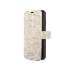 Guess Crocodile Book Case - Apple iPhone XR - Beige
